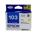 EPSON Yellow Ink Cartridge [T1034] - Tinta Printer Epson